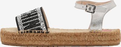 Love Moschino Sandale in grau / schwarz / silber, Produktansicht
