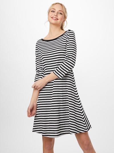 EDC BY ESPRIT Kleid in schwarz / weiß, Modelansicht