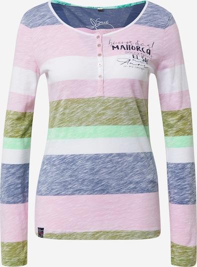 Soccx Shirt in navy / oliv / mint / pink / weiß, Produktansicht