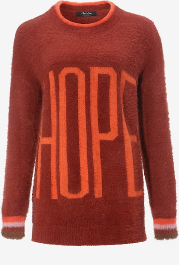 Aniston CASUAL Pullover in mandarine / rosa / rostrot, Produktansicht
