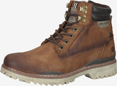 Dockers by Gerli Lace-Up Boots in Cognac / Dark brown, Item view