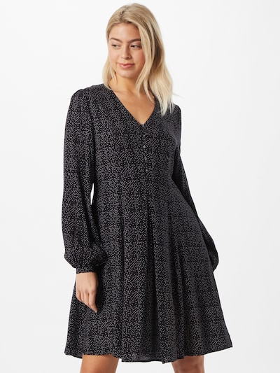 Moves Kleid 'Luli' in schwarz / weiß, Modelansicht
