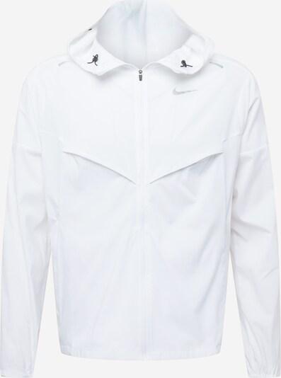 NIKE Sportjacke in silber / weiß, Produktansicht