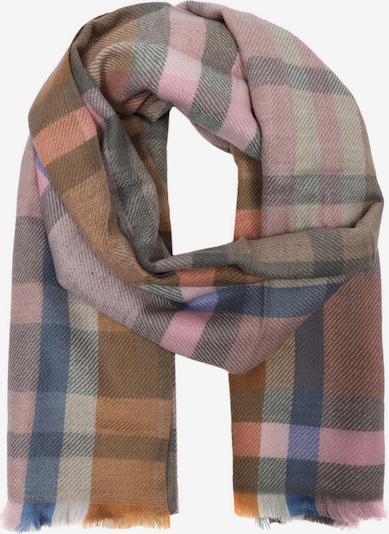 Zwillingsherz Schal in mischfarben / rosa, Produktansicht