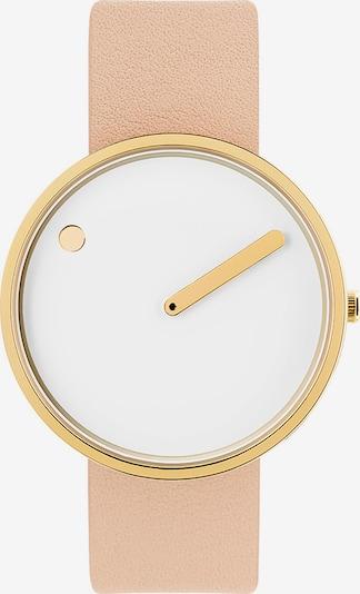 Picto Uhr in gold / rosa / weiß, Produktansicht