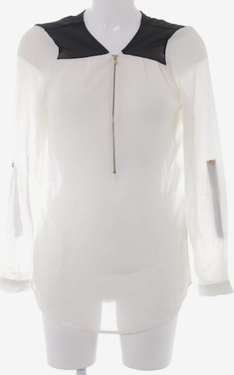 Charlotte Russe Langarm-Bluse in M in creme / schwarz, Produktansicht