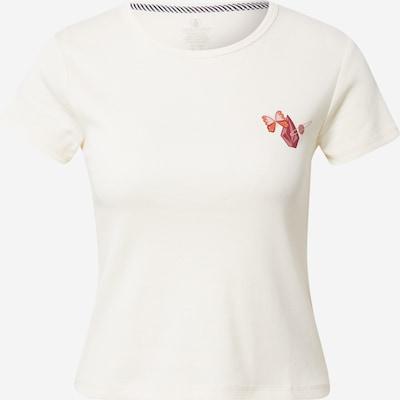 Volcom Shirt in de kleur Bessen / Sinaasappel / Wit, Productweergave