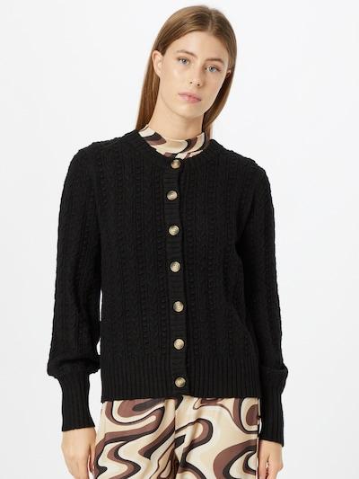Freequent Strickjacke 'LAURA' in schwarz, Modelansicht