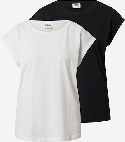 Urban Classics Shirt in de kleur Zwart / Offwhite, Productweergave