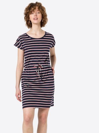 VERO MODA Kleid 'APRIL' in marine / grau / rot / weiß, Modelansicht