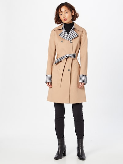 GUESS Manteau mi-saison 'SANDRA' en noisette / noir / blanc, Vue avec modèle