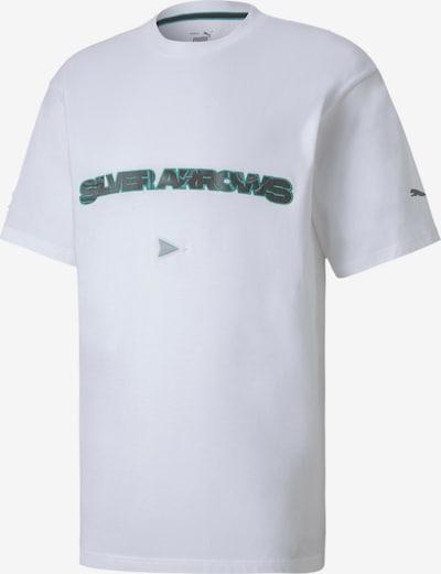 PUMA Shirt 'Mercedes Street' in de kleur Limoen / Zwart / Wit gemêleerd: Vooraanzicht