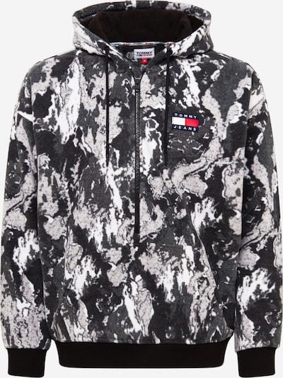 Tommy Jeans Flisová bunda - námornícka modrá / dymovo šedá / sivobéžová / tmavosivá / biela, Produkt