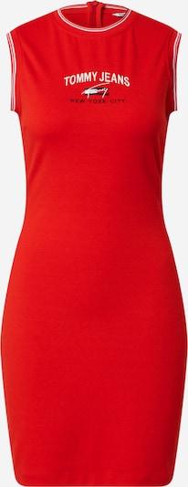 Tommy Jeans Robe en bleu marine / rouge clair / blanc: Vue de face
