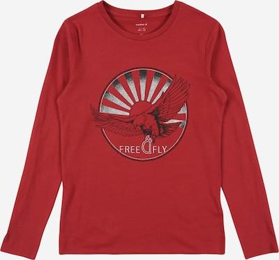 NAME IT Тениска 'SARGUN' в червено / черно / бяло, Преглед на продукта