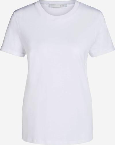 OUI T-Shirt Basic in weiß, Produktansicht