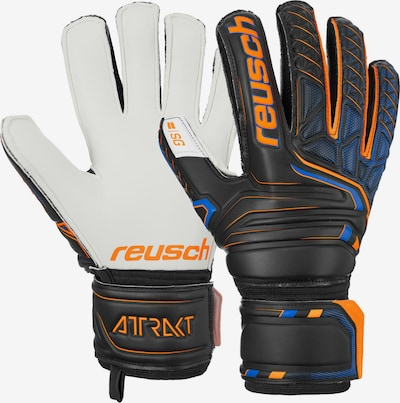 REUSCH Torwarthandschuhe 'Attrakt SG Finger Support' in orange / schwarz, Produktansicht