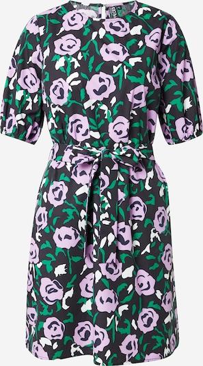 PIECES Robe 'JOLENE' en vert / violet / noir / blanc, Vue avec produit