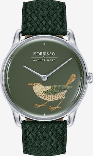 August Berg Analoog horloge 'Silver Bird 38mm' in de kleur Groen, Productweergave