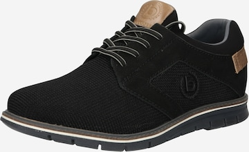 bugatti Δετό παπούτσι 'Simone' σε μαύρο