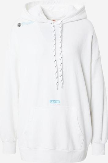 LEVI'S Sweatshirt en turquoise / blanc, Vue avec produit