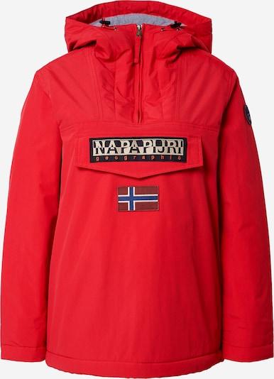 NAPAPIJRI Jacke 'RAINFOREST' in navy / rot / schwarz / weiß, Produktansicht