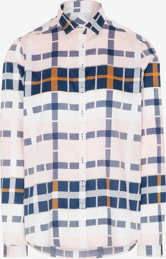 ETERNA Bluse in navy / braun / pastellpink / weiß, Produktansicht