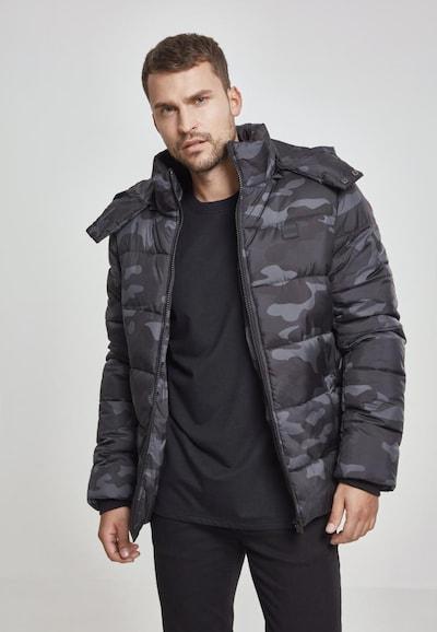Urban Classics Jacke in grau / basaltgrau / schwarz: Frontalansicht