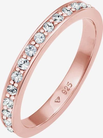 ELLI Ring Bandring 'Kristall' in rosegold, Produktansicht