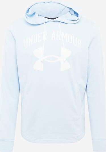 UNDER ARMOUR Sportiska tipa džemperis 'Rival Terry' zils / balts, Preces skats