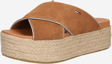 Tommy Jeans Pantolette in Braun