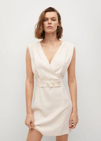 MANGO Cocktail Dress 'Hipolita' in Beige