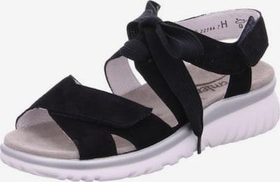 SEMLER Sandale in schwarz / weiß, Produktansicht