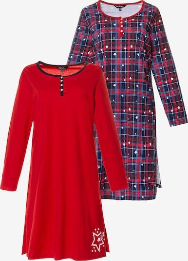 Ulla Popken Nachthemd in blutrot, Produktansicht