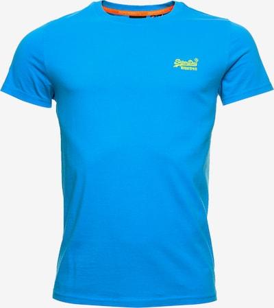 Superdry T-Shirt in himmelblau / limette, Produktansicht