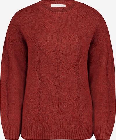 Betty & Co Grobstrick-Pullover mit Rippbündchen in rot, Produktansicht