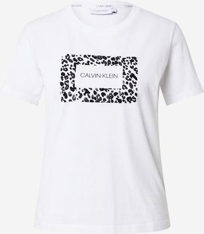 Calvin Klein T-Shirt in anthrazit / schwarz / weiß, Produktansicht