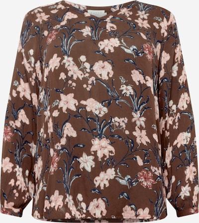KAFFE CURVE Bluse 'Briana' in beige / navy / braun / hellpink, Produktansicht