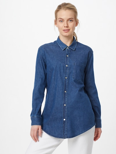 Trendyol Blouse in Blue denim, View model