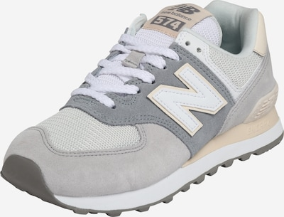 new balance Baskets basses en gris clair / blanc, Vue avec produit