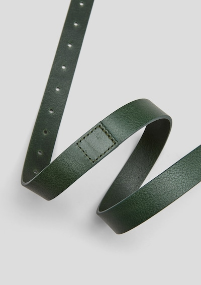 s.Oliver Gürtel aus Echtleder in dunkelgrün, Produktansicht