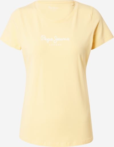 Pepe Jeans T-Shirt 'NEW VIRGINIA' in gelb / silber, Produktansicht