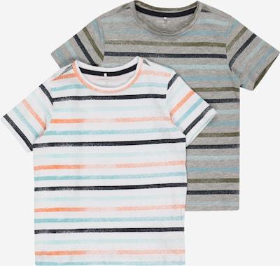 NAME IT Paita 'FANTI' värissä turkoosi / harmaa / oranssi / valkoinen, Tuotenäkymä