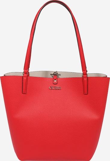 Pirkinių krepšys 'Alby' iš GUESS, spalva – kūno spalva / raudona, Prekių apžvalga