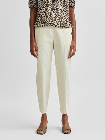 SELECTED FEMME Chino kalhoty 'MILEY' - krémová / bílá, Model/ka