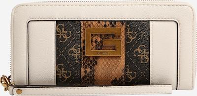 GUESS Portemonnaie 'BLING' in creme / braun / schwarz, Produktansicht