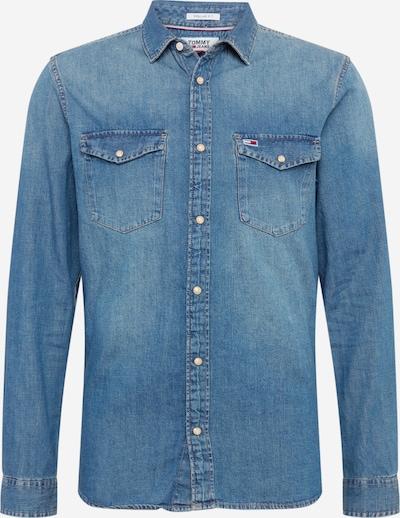 Tommy Jeans Overhemd 'WESTERN' in de kleur Blauw denim, Productweergave