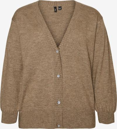 Vero Moda Curve Gebreid vest 'Bella' in de kleur Bruin, Productweergave