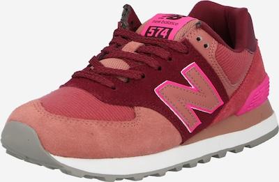 Sneaker bassa new balance di colore fucsia / borgogna / rosso pastello, Visualizzazione prodotti