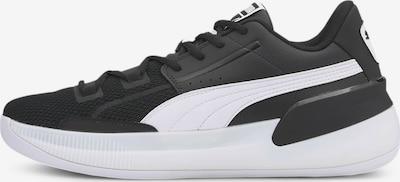 PUMA Basketballschuh 'Clyde Hardwood Team' in schwarz / weiß, Produktansicht